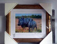 """STEPHEN GAYFORD """"Heavyweights"""" Signed Limited Edition Framed Art Print - Rhinos"""