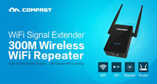 COMFAST 300Mbps WiFi Repeater Range Signal Router Booster 2.4G Antenna Extender