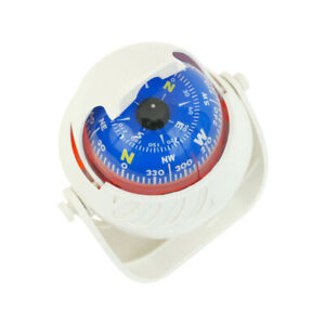 Illuminated Magnetic Navigation Boat Compass White Large By MiDMarine
