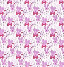 Tessuto stampato con fiocco A4 tela Uova di Pasqua Coniglietto ES9 fai Glitter Fiocchi Per Capelli