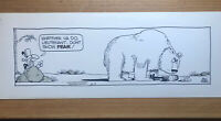 Catfish Original Comicstrip Daily By Bollen Peterman 1975 Newspapercomics Bear