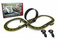 Micro Scalextric EMERGENCY PURSUIT Set: 9 Layouts, Loop & Half Pipe (Euro Plug)