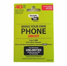Straight Talk Bring Your Own Phone Activation For Verizon CDMA 3-in-1 SIM Card