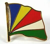 Seychellen Flaggen Pin Anstecker,1,5cm,Neu mit Druckverschluss