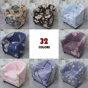 Flower Leaves Stretch Sofa Cover Tub Chair Cover Skid Resistance Protector NEW