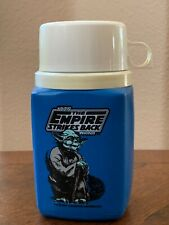 VINTAGE 1981 EMPIRE STRIKES BACK YODA BLUE KING SEELEY THERMOS USED STAR WARS