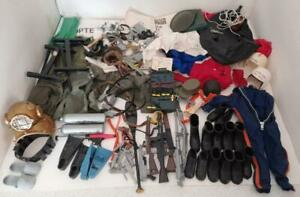 Vintage 1970's Action Man Large Collection Of Accessories & Uniforms & More