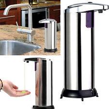 Pro Automatic Stainless Steel Touchless Handsfree Sensor Soap Liquid Dispenser W