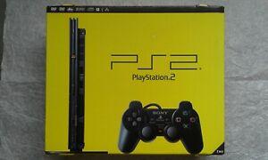 Boite vide avec cales sachets notices pour console Sony PlayStation 2 PS2 Slim