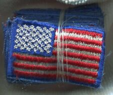 Dealer lot of 20 Vintage US Army American Flag Military Combat Arm Patches