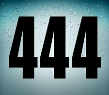 3x Pegatina sticker adesivi adhesivo tunning vinilo numero numeros moto auto 4 r