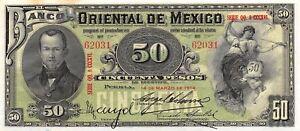 México / Puebla  50 Pesos  14.3.1914  S 384c  Series QQ  Uncirculated Banknote