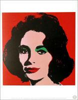 Andy Warhol LIZ 1964 Elizabeth Taylor Official Litho Print 1989