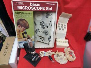 VINTAGE GILBERT KIDS MICROSCOPE / CHEMISTRY SET IN ORIGINAL BOX