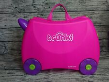 Trunki Childs Pink Ride on Suitcase