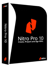 Nitro Pro 10 - PDF Viewer, Creator, Editor Lifetime + Licence ⭐Digital Download⭐