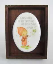 "Vintage Hallmark Betsey Clark 1978 ""Each Day Is Special"" Ceramica Plaque w/Box"