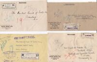 # 1959 x 4 NEPAL COVERS REGISTERED TO CENTRAL BANK OF INDIA BOMBAY - KATHMANDU