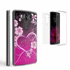 Beyond Cell Tri Max LG V10 Case, Ultra Slim 360°Full Body Cover-Rosy Heart