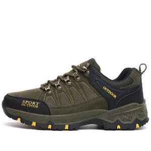 Mens Chic Outdoor Hiking Trekking Sneaker Climbing Moutain Shoes Green Plus Size