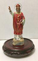 "Vintage 9"" St Nicholas Saint Nick Bishop of Myra Statue / Spain"