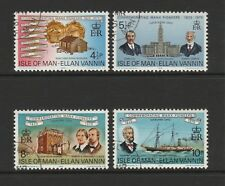 Isle of Man 1975 Manx Pioneers in Cleveland SG 59-62 CTO/FU