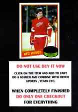 1980 TOPPS 1980-81 HOCKEY #1 TO #132 SELECT CARDS FROM OUR LIST