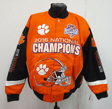 CLEMSON TIGERS NCAA NATIONAL CHAMPIONS JACKET MENS STITCH FRANCHISE NEW