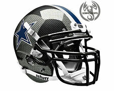 Dallas Cowboys Carbon Fiber Concept Mini Helmet (Chrome Black)