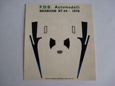 F1 DECAL 1/43 CAR BRABHAM - ALFA BT 46B 1978 NIKI LAUDA DECALS
