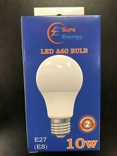 10W LED GLS ES E27 A60 Lamp 3000k Warm White Bulb