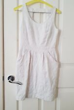 Veronika Maine cotton dress Size 6 White Sleeveless fit like size 4. Dry cleaned