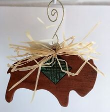 Handmade Clay 4 inch wide Buffalo Ornament from Laughing Spirits O-008BU