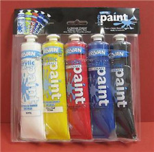 Derivan Students Acrylic Paint 5 Pack 75ml Tubes