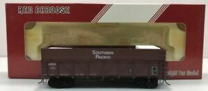 Red Caboose RR-35184-5 HO Scale Drop Bottom Gondola w Plywood Extensions #163 LN