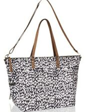 Monsoon Accessorize Niamh Blurred Spot Tote Day Bay Black /Ivory Bnwt Cross Body