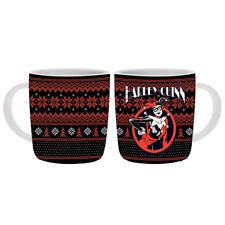 New Bone China Harley Quinn Ugly Christmas Design Barrel Coffee Mug 400mL Gift