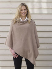 Cashmere Poncho Light Brown Cape Wrap One Size Fits All UK
