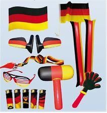 Deutschland Herren Fanpaket 11 tlg. WM EM Fanartikel Fussball Fahne Fan Flagge