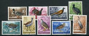 YUGOSLAVIA 1958. BIRDS COMPLETE SET Mi.# 882/890 PERFECT USED