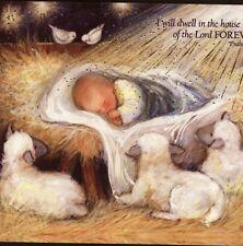 SUSAN WINGET...BABY JESUS SUCKS THUMB,MANGER,CHRISTMAS,COLLECTIBLE GREETING CARD