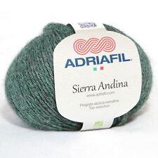 ADRIAFIL Sierra Andina 100% Alpaca Hilo 4ply/DK 50g-Melange Verde Botella (15)