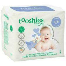 Tooshies by TOM Natural Infant Nappies, Pack of 34