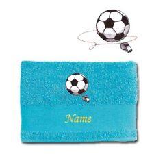 Serviettes, draps et gants de salle de bain bleu 100x150 cm