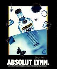 1994- Absolut Lynn- Vodka-Jenny Lynn- Vtg Ad Art Print