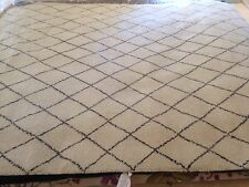 Spectacular  Hand Knotted Beni Ourain Moroccan area Rug 8'x10' Shaggy New Berber