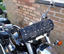 MOTORCYCLE LEATHER LARGE TOOL ROLL SADDLE BAG YAMAHA XVS MIDNIGHT STAR DRAG STAR