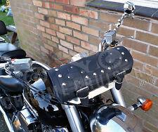 Moto Cuero gran herramienta Roll Saddle Bag Yamaha Xvs Midnight Star Drag Star
