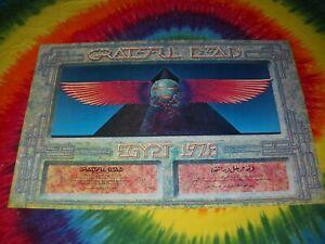 GRATEFUL DEAD 1978 EGYPT HAMZA EL DIN ALTON KELLEY PYRAMID WINGS CONCERT POSTER