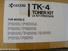 New ! Genuine Kyocera F-1000 F1000A F1200 P-2000 F-1010 Toner Kit TK-4  TK4